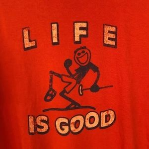 Life is good t shirt xl